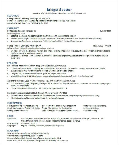 Civil Engineer Resume by 30 Modern Engineering Resume Templates Free Premium