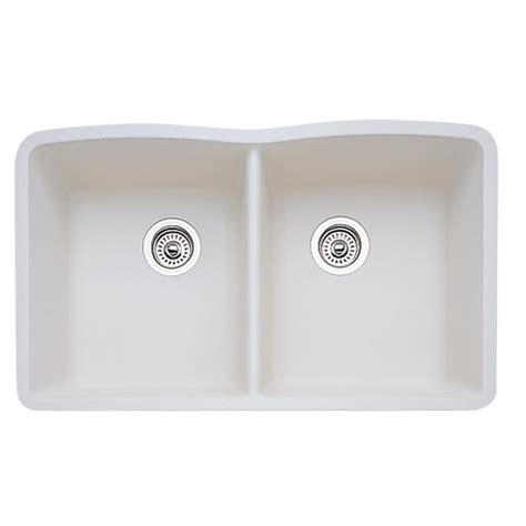 granite undermount kitchen sinks double bowl blanco undermount granite composite 32 in equal