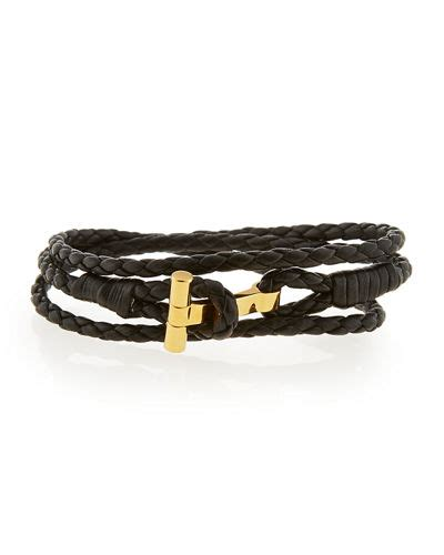 tom ford s leather t wrap bracelet small