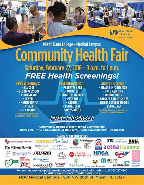 Miami Dade County Health Fair Kidz Neuroscience Center University Of Miami Community Health Fair Flyer Template