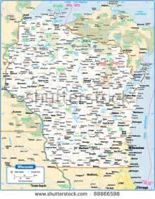 Wisconsin On A Map by Wisconsin Map Stock Images Royalty Free Images Amp Vectors