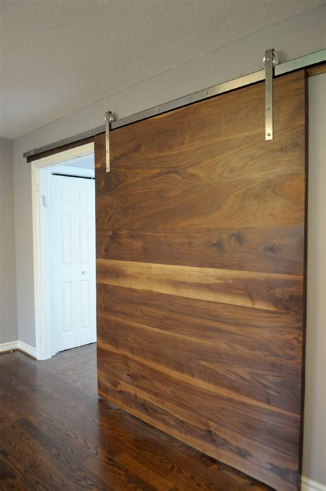Walnut Slab Barn Door 1925workbench Custom Doors And Barn Door Slab