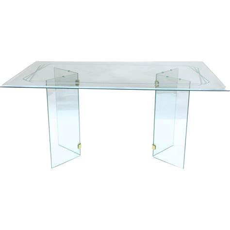 mid century modern pace style glass dining table from - Modern Glass Table Ls