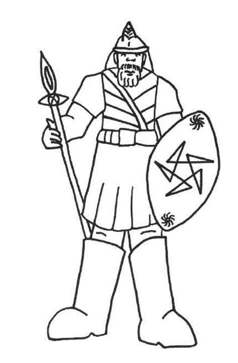 Coloring Page Goliath by Free Coloring Pages Of Armor