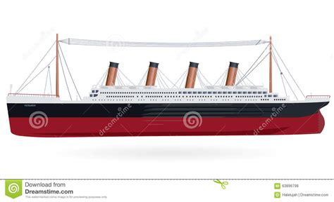 titanic boat design titanic legendary boat stock vector image 63896798