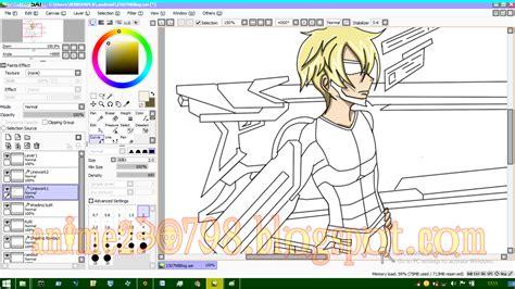 tutorial gambar di paint tool sai cara mewarnai anime di paint tool sai mudah untuk pemula