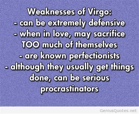 weaknesses of virgo quote