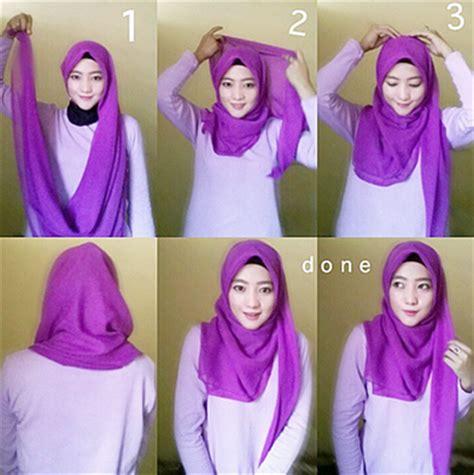 tutorial berhijab terkini tutorial hijab modern hoodie style terkini 2016