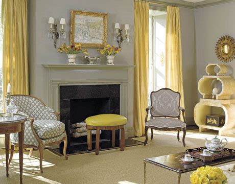 belle maison color scheme inspiration gray yellow