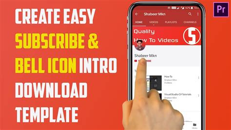 How To Create Youtube Bell Icon Intro Download Premiere Template Get More Subscribers Youtube Bell Icon Intro Template After Effects