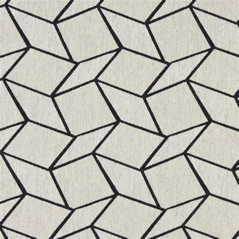 Midnight and off white geometric boxes upholstery fabric by the yard contemporary upholstery