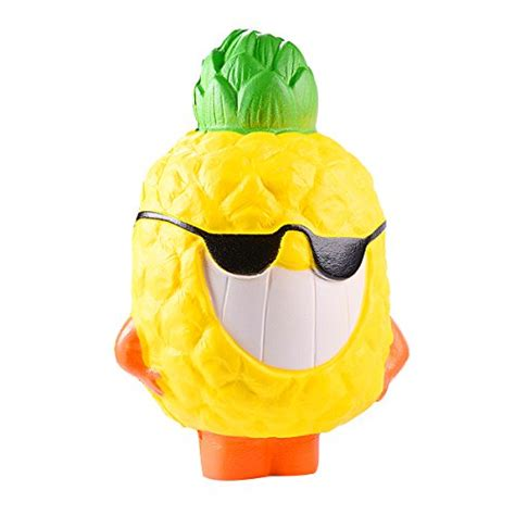 Squishy Nanas squishy ananas store farverige og festilige squishy