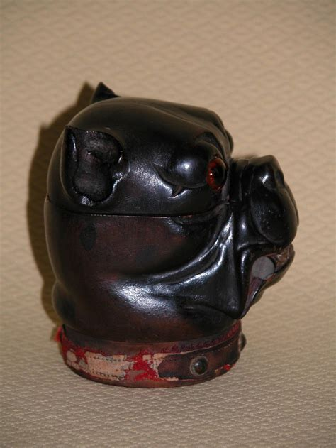 pugs for sale in pittsburgh pa carved wood inkwell in form of pug or bulldog at 1stdibs