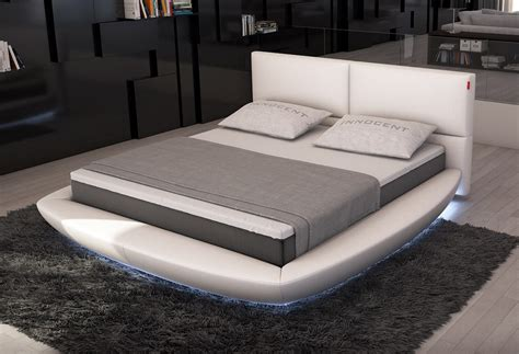 bed with lights lia modern bed with led lights contemporary bedroom