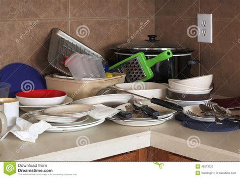 cuisine sal馥 cuisine sale et unneated image stock image du m 233 nage