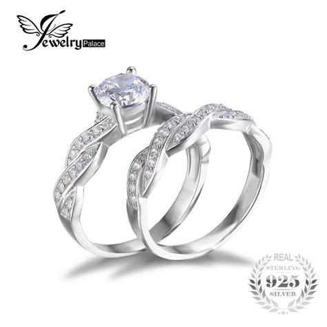 Set Perhiasan Berlian Permata Imitasi Zircon Set 6 aliexpress buy jewelrypalace infinity simulated anniversary promise wedding band