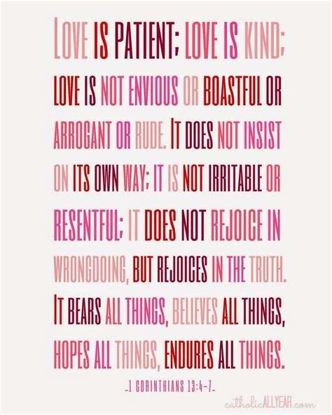 printable version of love is patient catholic all year seven free printable catholic
