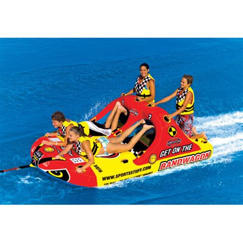 4 person boat tube sportsstuff bandwagon 2 2 4 person towable tube west marine