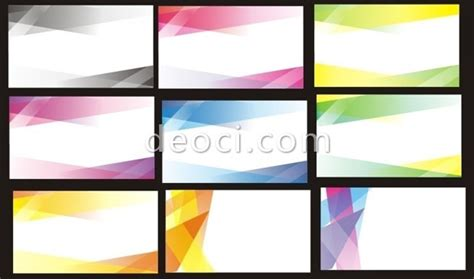 9 the business card card design template coreldraw