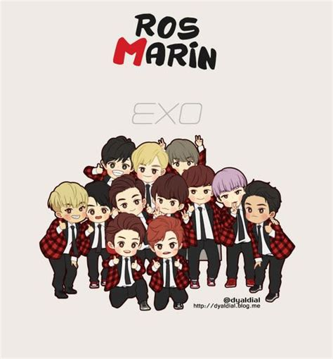 wallpaper dinding exo exo chibi fanart xoxo pinterest chibi exo and fanart