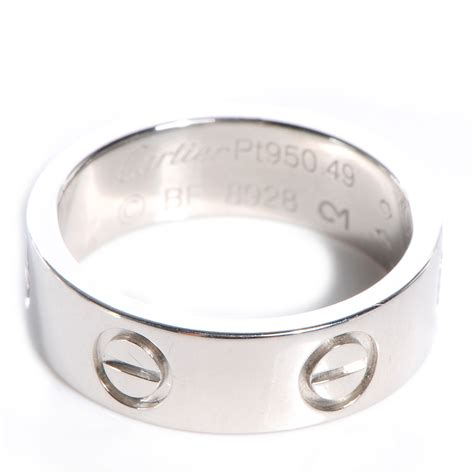 cartier platinum 5mm ring size 49 us 4 75 67465