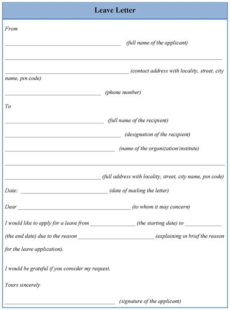 annual leave template form annual leave application form mughals