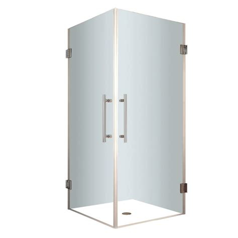 26 Shower Door 26 Inch Pivot Shower Door White Finish With Obscure Glass En5100 26 72 In Canada
