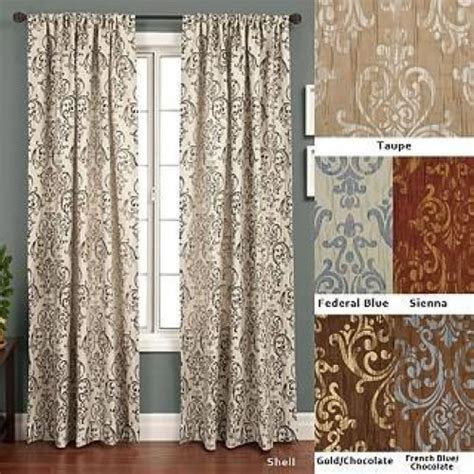 120 Inch Drapes crinkle jacquard taupe gold 120 inch curtain panel home decor ebay