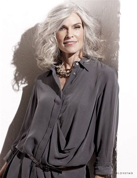 models with gray hair photo of model roxanne gould id 436010 models the