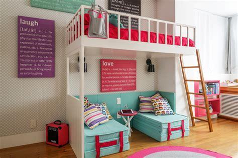 cama alta quarto de menina cama alta e futon embaixo