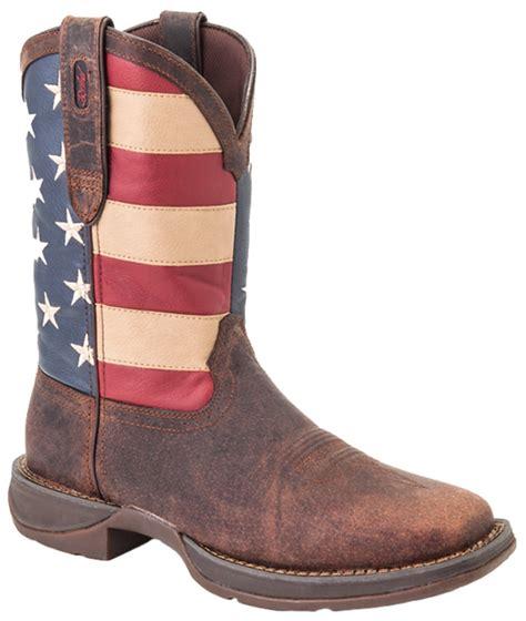 mens blue cowboy boots durango boots rebel s 12 quot patriotic flag leather
