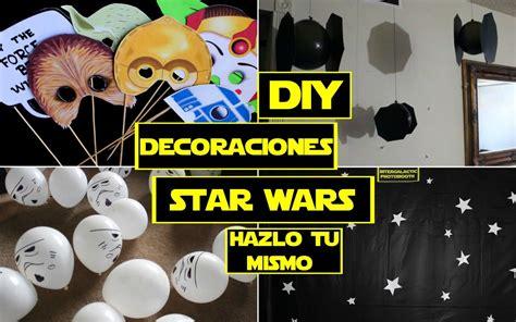 guerra de las galaxias manualidades de papel decoraciones hazlo tu mismo de star wars youtube