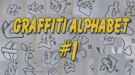 lettere a graffiti graffiti alphabet 1 lettre par lettre medium