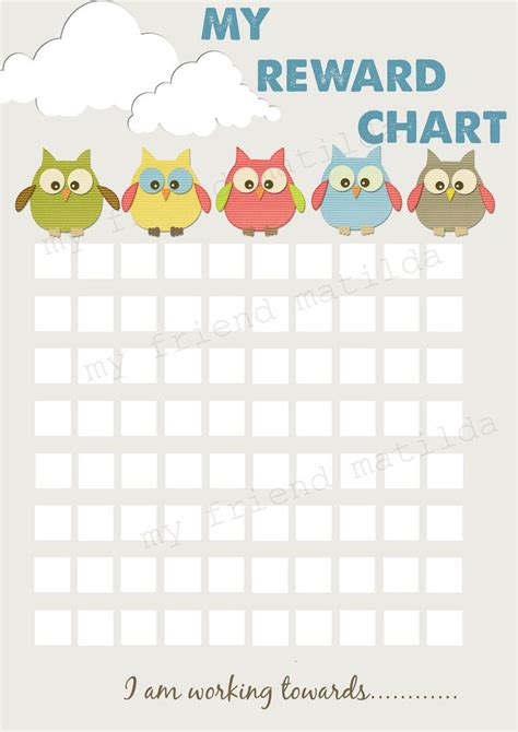 girls potty toilet training chart reusable personalised