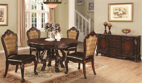 pedestal dining room table sets abigail cherry round pedestal dining room set from coaster