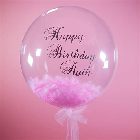 personalised feather birthday balloon buy from prezzybox