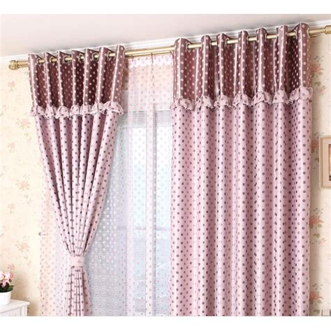 Polka Dot Sheer Curtains Yarn Pink White Polka Dot Sheer Curtains