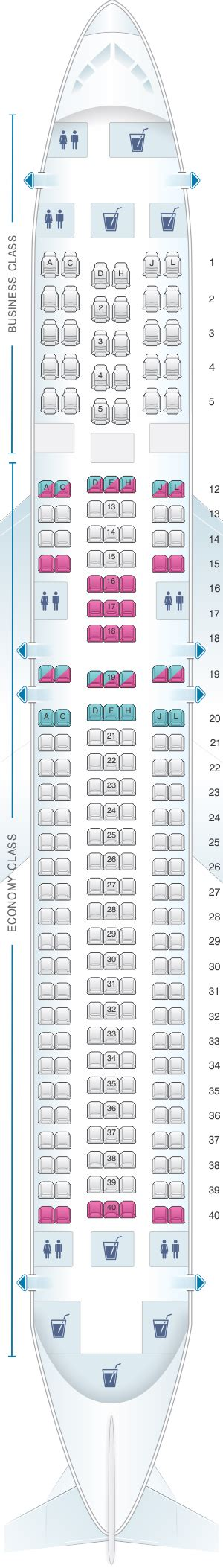 Seat Map LATAM Airlines Boeing B767 300   SeatMaestro