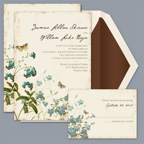 Nature Themed Wedding Invitations by David S Bridal Wedding Invitations Wedding Invitations