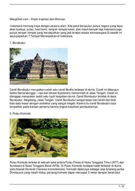 film motivasi dan inspirasi indonesia 7 tempat menakjubkan di indonesia kisah inspirasi dan