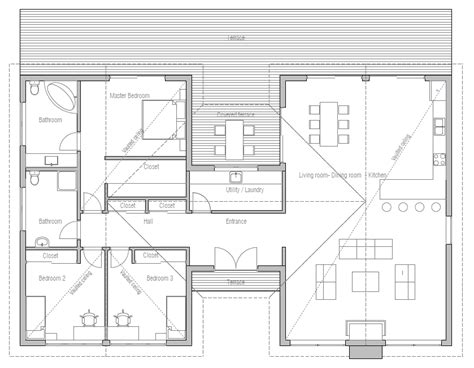 Economic House Plans | affordable home plans economical home plan ch290