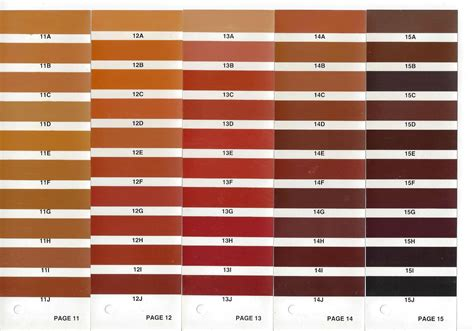 brown color chart leather colour cards leather colourants leather repair