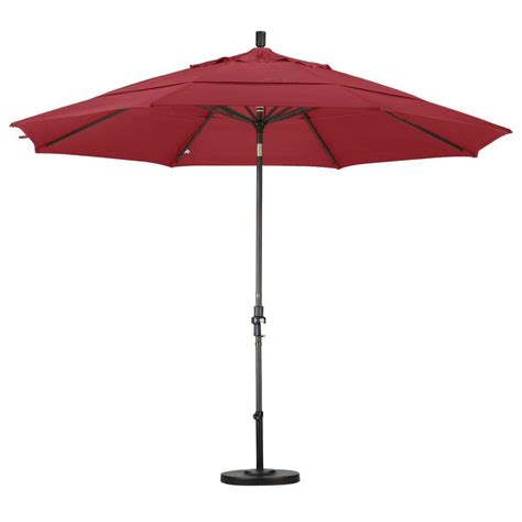 11 Ft Offset Patio Umbrella 11 Ft Led Offset Patio Umbrella In Yjaf052 The Home Depot