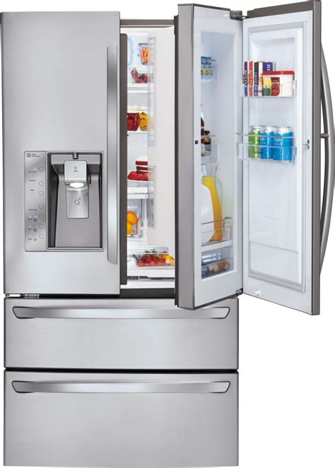 best door refrigerator without water dispenser lg lmx30995st 30 3 cu ft door refrigerator with