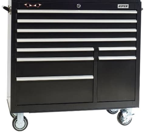 trojan tool chest and cabinet set viper tool storage v4109blr 41 inch 9 drawer 18g steel
