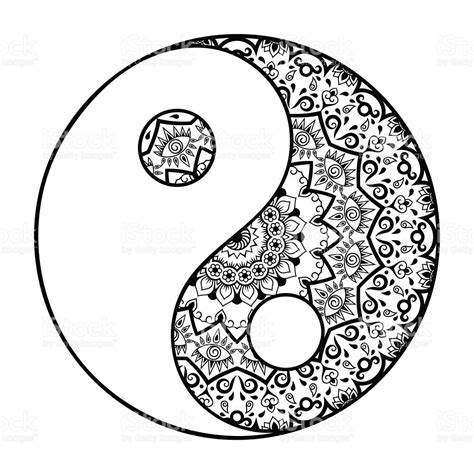 yin yang pattern circular pattern in the form of mandala yinyang decorative