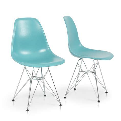 eames eiffel chair 2x eames style dsw modern eiffel side chair molded abs