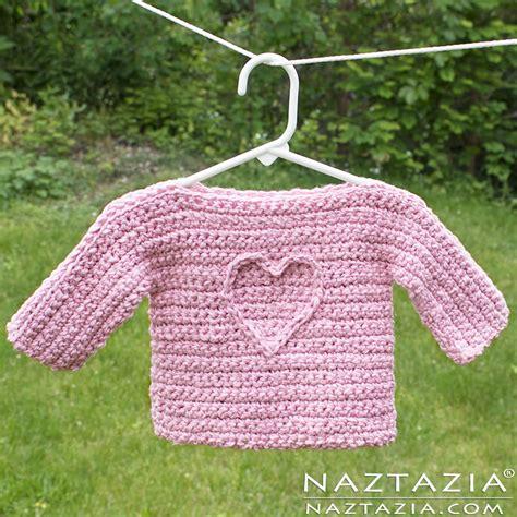 crochet jumper pattern toddler t sweater free baby crochet pattern with heart motif