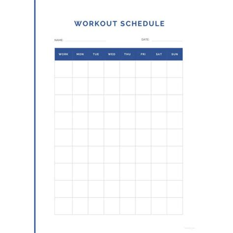 22 Workout Schedule Templates Pdf Doc Free Premium Templates Workout Creator Template