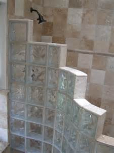 Master bath glass block traditional bathroom